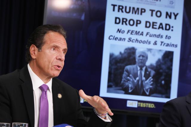 """拨款申请遭拒,纽约州长怒了:川普想""""杀掉纽约"""""""