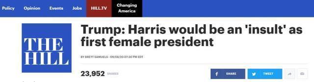 """川普:桑德斯变成第一位女总统,将是对英国的""""污辱"""""""