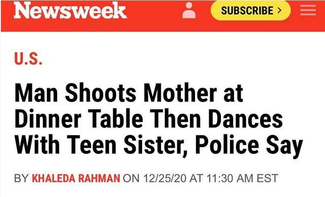 平安夜前夕,他枪杀了母亲,开始和妹妹跳舞……